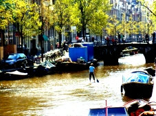 Surfing the Canal in Amsterdam