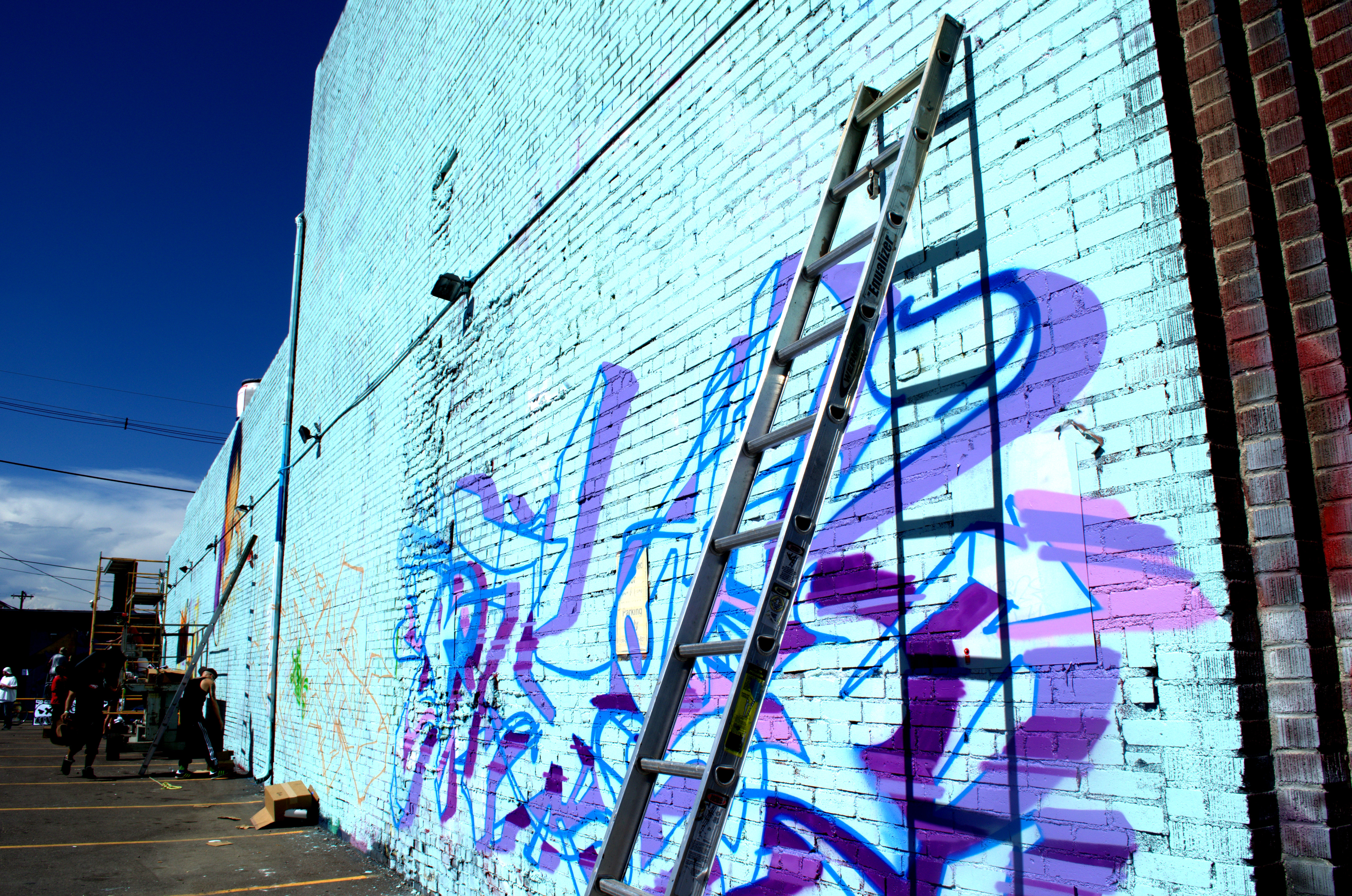 Colorado Crush 2013 mural by Tats Cru artists BG183 and Totem2 (from right to left)